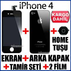 iPHONE 4 LCD EKRAN +HomeTu�u +2Film +ArkaKapak