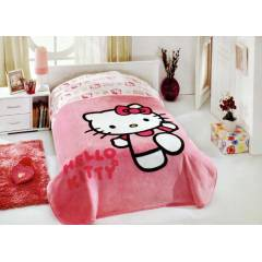 Aksu Hello Kitty Lisansl� Battaniye Berry