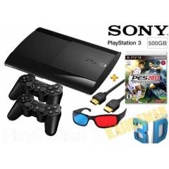 PS3 500 GB 3D S�per Slim +2 kol + Pes 13