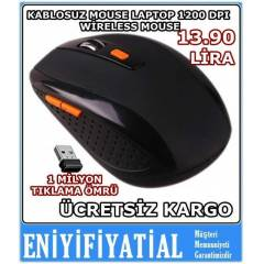 KABLOSUZ PC MOUSE LAPTOP 1200 DPI W�RELES MOUSE