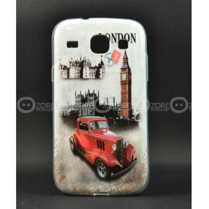 Galaxy Core K�l�f i8262 London Car Silikon Kapak