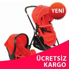 KRAFT TRAVEL S�STME BEBEK ARABASI BUKLE- KIRMIZI