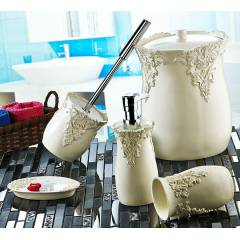 NOBLE L�FE POLYESTER BANYO SET� GOTH�C CREAM