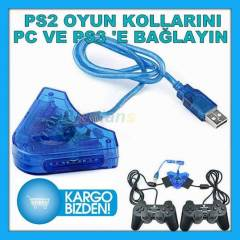PLAYSTATION 2 OYUN KOLU GAMEPAD USB PS3 �EV�R�C�