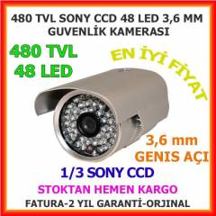 48 LED 3,6 MM GECE G�R�� G�VENL�K KAMERASI- 1304