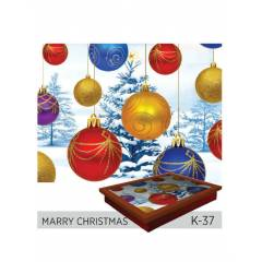 Funny Design Keyif Tepsisi - MARRY CHRISTMAS