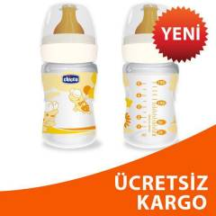 Chicco Kau�uk Biberon 150ml Turuncu