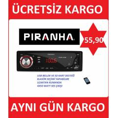 P�RANHA OTO TEYP CHARGE A TYPE USB + SD + FM