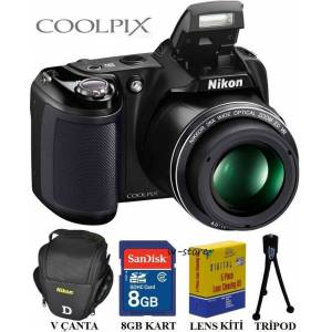 Nikon Coolpix L330 20.2MP HD Foto�raf Makinesi