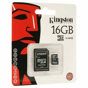 KINGSTON 16GB MICRO SD HAFIZA KARTI + SD ADAPT�R