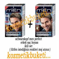 schwarzkopf men perfect erkek sa� boyas� 2li set