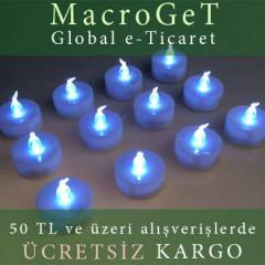 Tealight Led Mum 12 li Set Beyaz Sabit I��k