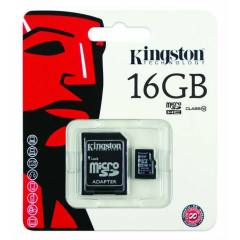 K�NGSTON 16GB CLASS 10 M�CRO SDHC+SD ADAPT�R�