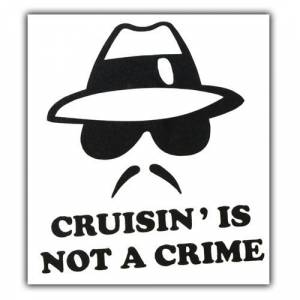Not a Crime Yaz� Araba Oto Sticker ( 9cm * 11cm
