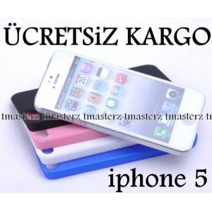 iphone 5 Mat Rubber Kapak K�l�f + 3 X F�LM