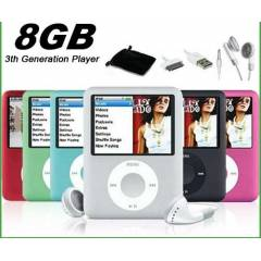 8 GB 1,8 EKRAN MP3 MP4 M�Z�K PLAYER FM RADYO