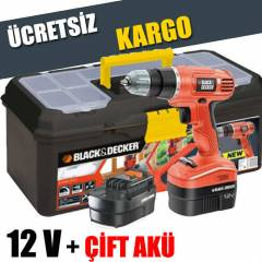 BLACK DECKER 12V ��FT AK�L� V�DALAMA + �ANTA