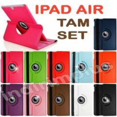 iPad Air K�l�f 360� D�n. + Film+ Kalem 8 Renk