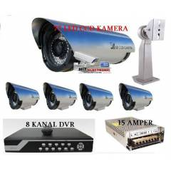 8 ADET 77 LED KAMERA +8 KANAL DVR C�HAZ �OK SET