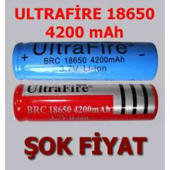 ULTRAF�RE 18650 4200mAh �ARJLI P�L BATARYA