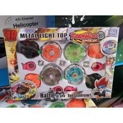 4 FIRLATICI VE 4'� I�IKLI METAL BEYBLADE SET�