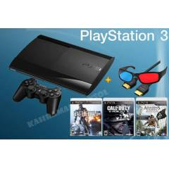 PS3 12 GB 3D S�per Slim+ 3 S�per Oyun + Hdmi