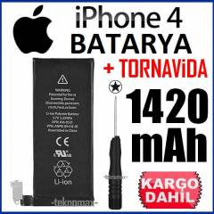 APPLE iPHONE 4 BATARYA 1420 mAh +TORNAV�DA GFS