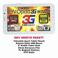 "Dark EvoPad M7220 7"" 3G SIM �ift �ek. Tablet Pc"