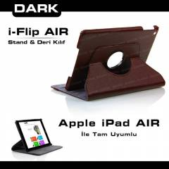 Dark iPad AIR iPad 5 i�in Hareketli Deri K�l�f