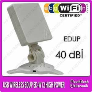 40 dB� USB WIRELESS ALICI EDUP ED-W12 HIGH POWER