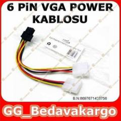 6 Pin Ekran Kart� Power G�� Kablosu PCI EX