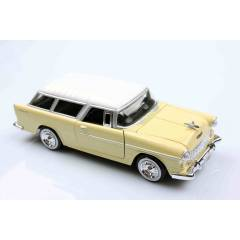 Krem 1955 Chevy Bel Air Chevrolet Nomad 1/24