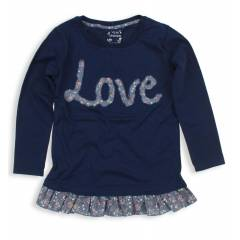 New Kids K�z �ocuk Love Aplikeli T-Shirt 012-54