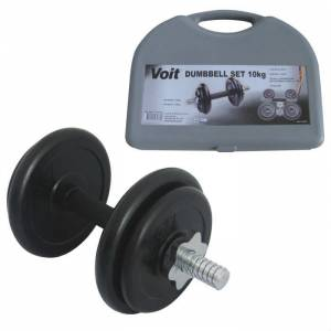 Voit 10 Kg. Kau�uk Kapl� Damb�l Set