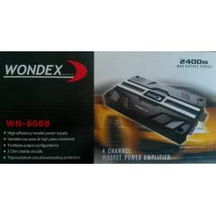 WONDEX WN-6008 4 KANAL 2400 WATT ANF� AMF�