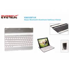 Everest KB650BTUK Beyaz Bluetooth Aluminum Q Mul