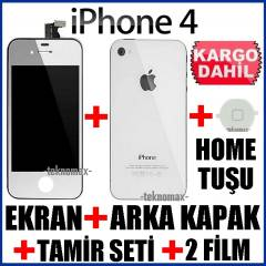 APPLE iPhone 4 4G LCD EKRAN +ArkaKapak +HomeTu�u