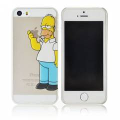 iPhone 5S K�l�f 0.2mm Simpsons �effaf Arka Kapak