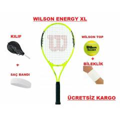 W�LSON ENERGY XL T�TANYUM TEN�S RAKET�+KILIF+TOP