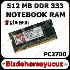 Kingston 512 MB DDR 333 Notebook Ram PC2700