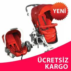 Kraft Lilly Travel Sistem  Bebek Puset  K�rm�z�
