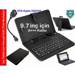 9.7 in� Klavyeli Piranha Tablet K�l�f� Standl�