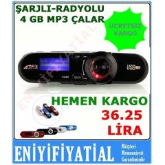 4 GB MP3 Player+Usb+Kulakl�k �arjl� Radyolu