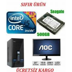 900 TL 20 LED+i5+4 GB RAM+2 GB E/K+500 GB HDD