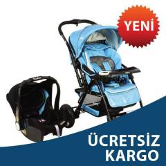 Kraft Elite Travel Sistem Bebek Arabas� Mavi