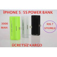 �PHONE 5 5S POWER BANK �ARJLI BATARYA P�L 3000MA