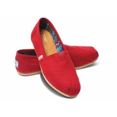 Toms Red Canvas Kad�n K�rm�z� Ayakkab�