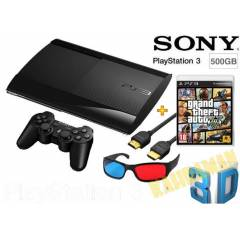 PS3 500 GB 3D S�per Slim + Gta 5