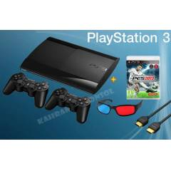 PS3 12 GB 3D S�per Slim+ 2 kol +Pes 13 + Hdmi