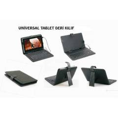 9 in� Tablet PC Deri Klavyeli K�l�f